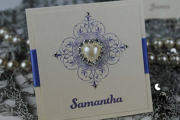 Antique Pearl Place Card