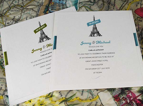 Eiffel Tower 'La Dame de Fer' Flat Evening Invitations