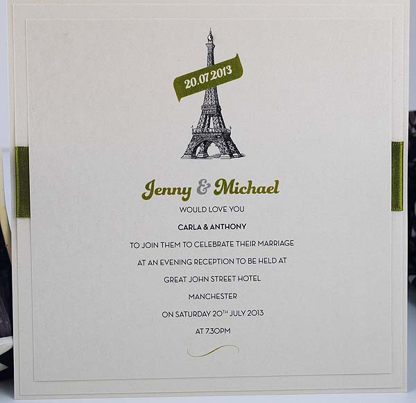 Eiffel Tower Flat Evening Invitation