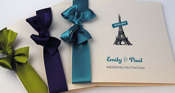 Eiffel Tower 'La Dame de Fer' Wedding Invitations