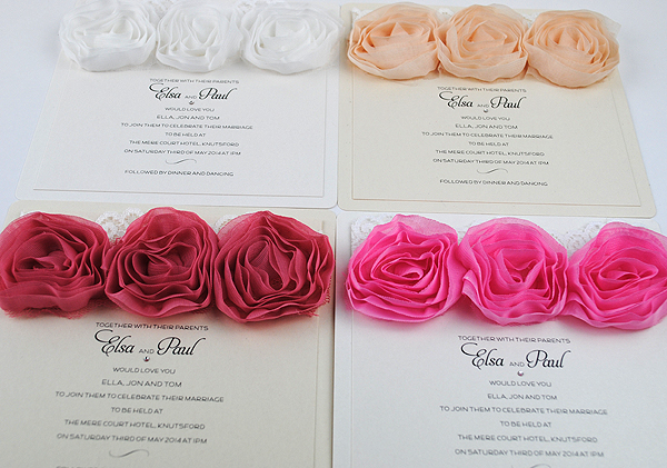 Vintage Rose Flat Invitations