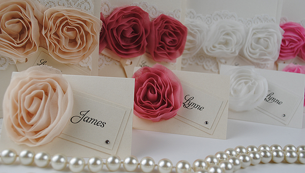 Vintage Rose Place Cards