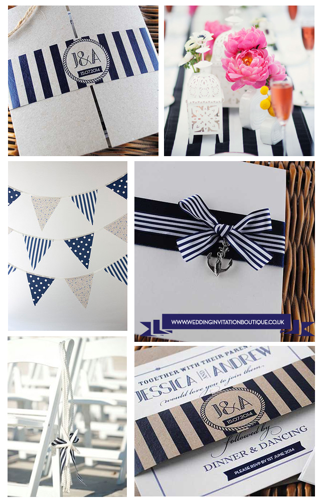 Nautical Themed Wedding Inspiration - Navy, Sailor Stripes, Anchors...