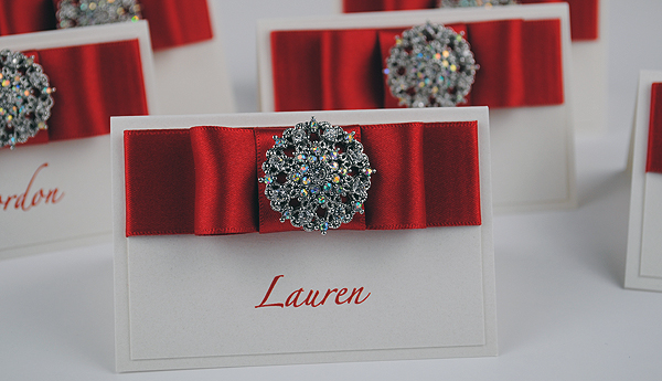 Paris Place Cards in Red