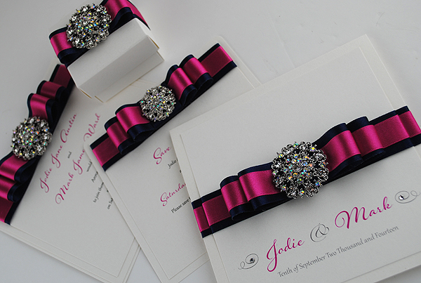 Dual ribbon also available - shown here in fuchsia and navy