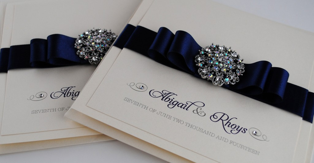 Paris Navy Wedding Invitations