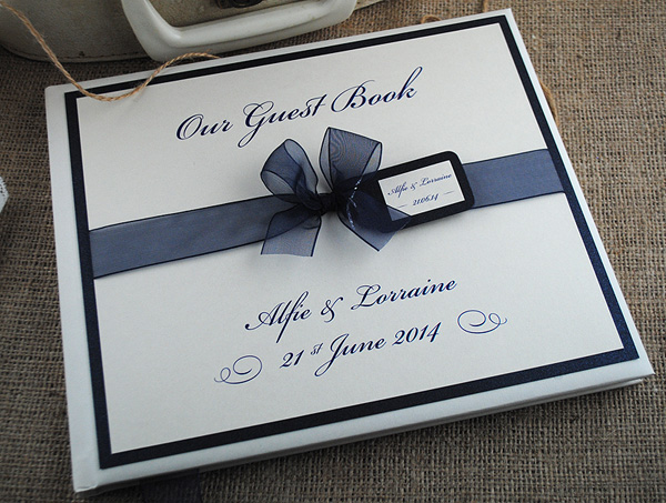 Eros Wedding Guest Book in Ivory