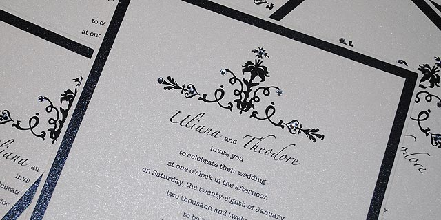 Evening Wedding Reception Invitations: Elegant Evening Wedding Invitations - Classic