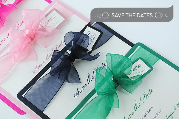 Handmade Save the Date Cards
