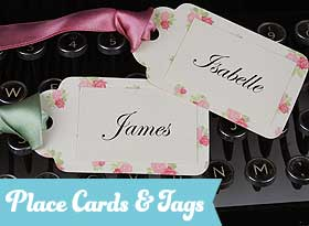 Handmade Wedding Place Cards