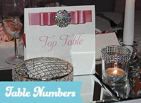 Handmade Wedding Table Numbers