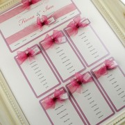 Eros Table Plan in Dusky Pink