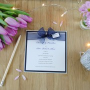 Eros evening invitation in navy blue
