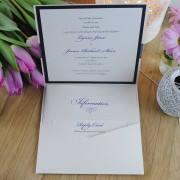 Inside view of Eros pocketfold invitation