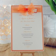 Eros flat menu in orange
