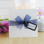 Eros wedding invitation in navy blue