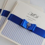 Coco Mono Invitation in Royal Blue