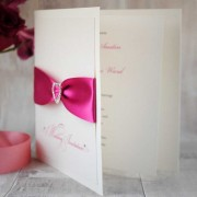 Diamonté thank you card in hot pink