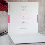 Inside of pocketfold wedding invitation