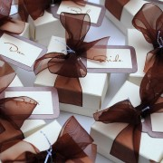 Eros favour boxes in chocolate brown