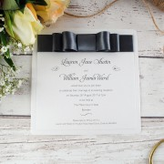 Evening wedding invitation in smoke grey
