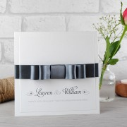La Belle Handmade Wedding Invitation in Smoke Grey