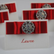 Vintage Place Cards in Red