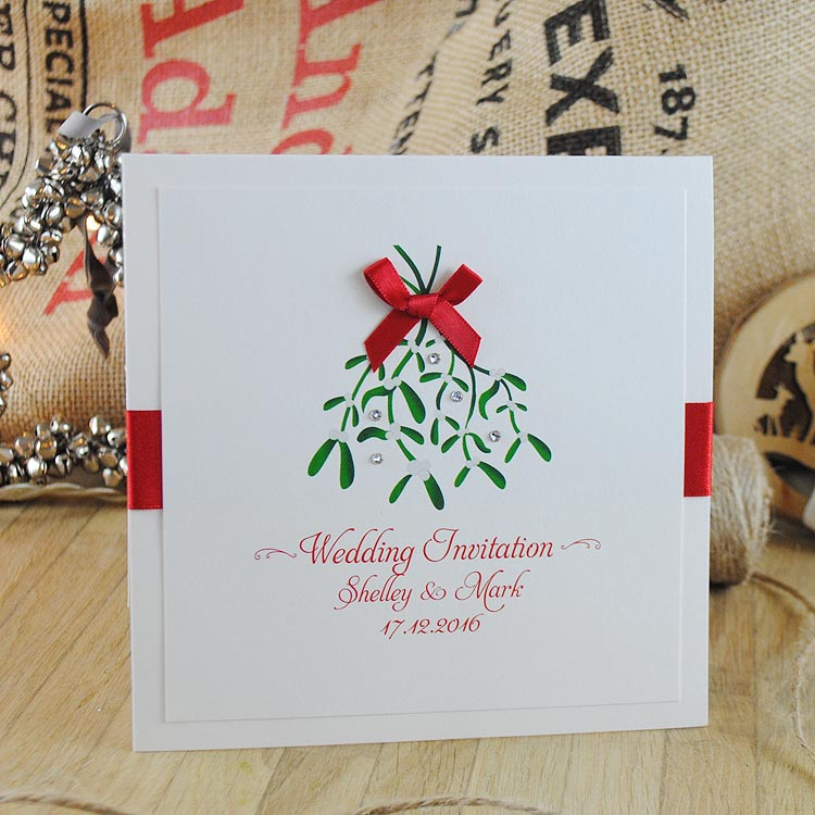 Christmas Handmade Wedding Invitation