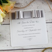 Luxury save the date in silver
