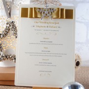 Snow Queen Menu in Gold