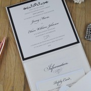 Classic Pocketfold Invitation with RSVP & Info Booklet