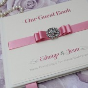 Guest Book in Dusky Pink