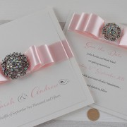 Invitation and Save the Date in Pale Pink