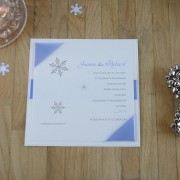 Snow Maiden Evening Invitation in Pale Blue
