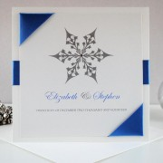Snow Maiden Invitation in Smokey Blue