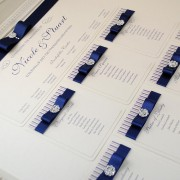 Coco Mono Table Plan in Navy Blue