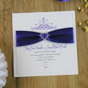 Mademoiselle Evening Invitation in Cadbury Purple