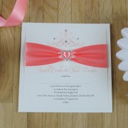 Mademoiselle Evening Invitation in Coral