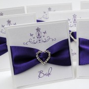 Mademoiselle Place Card in Cadbury Purple