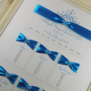 Mademoiselle Table Plan in Turquoise