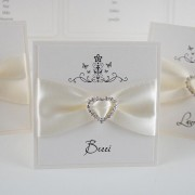 Place Card with Heart Buckle