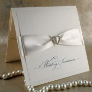 Diamonte Handmade Wedding Invitation