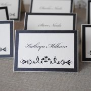 Black and White Wedding Place Cards