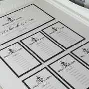 Black and White Wedding Table Plan