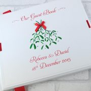 Christmas Themed Wedding Guest Book