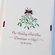 Christmas Themed Wedding Post Box