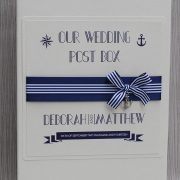 nautical post box in navy