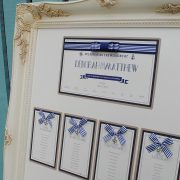 nautical table plan in navy