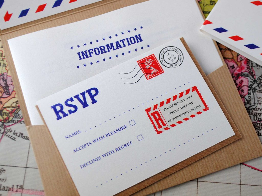 Airmail RSVP Card