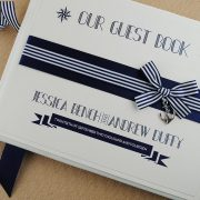 nautical guest book in navy